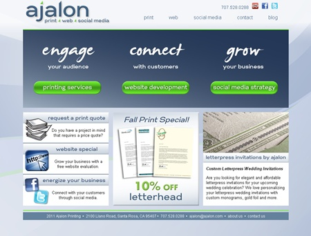 ajalon print and web homepage