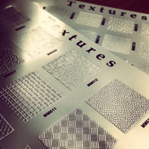 embossing texture charts