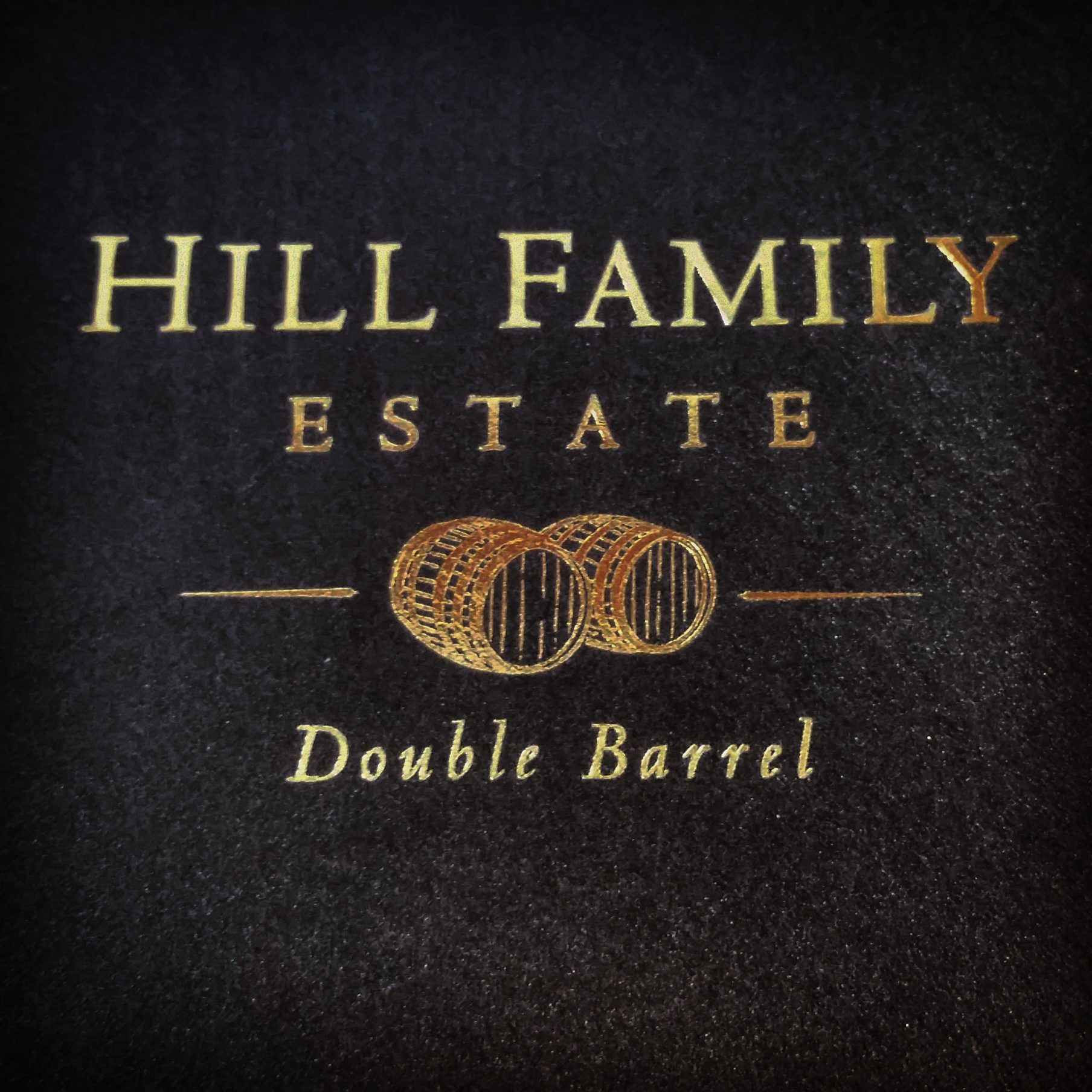 Gold foil stamped envelopes hill family estate