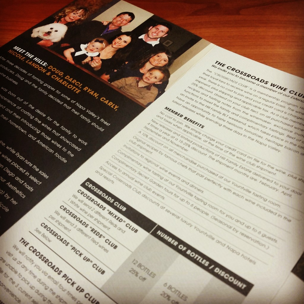 offset business printing brochure of the Hill Family