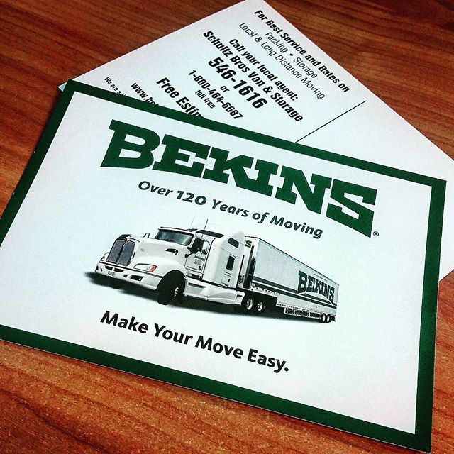 advertising postcard for berkins moving company