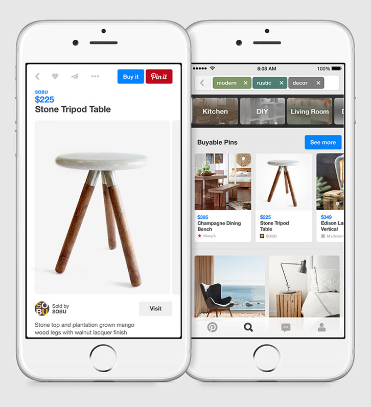 buyable pins on Pinterest how it works