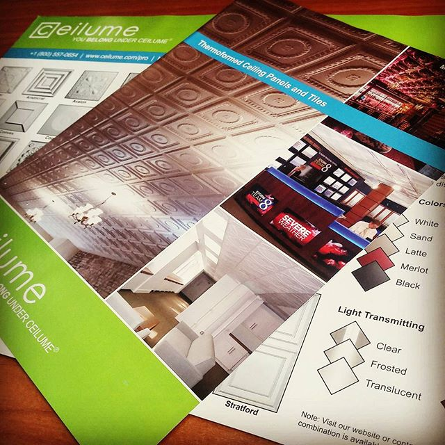 ceilume ceiling tile company digital printed brochure
