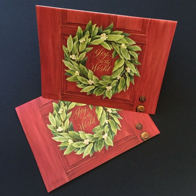 custom-holiday-greeting-cards-christmas-wreath-greeting-cards