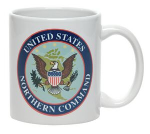 White 11 Oz. Grade A ceramic coffee mug or cup with a c-handle imprinted with your personalized logo. The perfect mug for coffee shops, diners or tea shops, schools college or fund raising events. Metallic ink and halo option available.