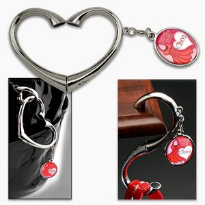 valentines-business-promotional-product-heart-swivel-purse-hook-hanger-with-company-logo