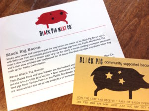 Black Pig Meat Co. custom printed business card and postcard