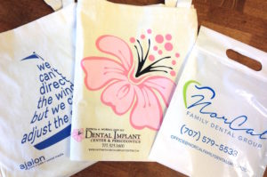 custom printed promotional business tote bags