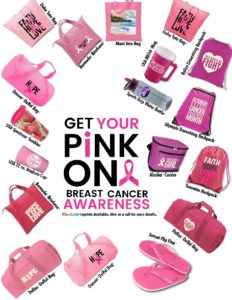 breast cancer promotional products for get your pink on campaign