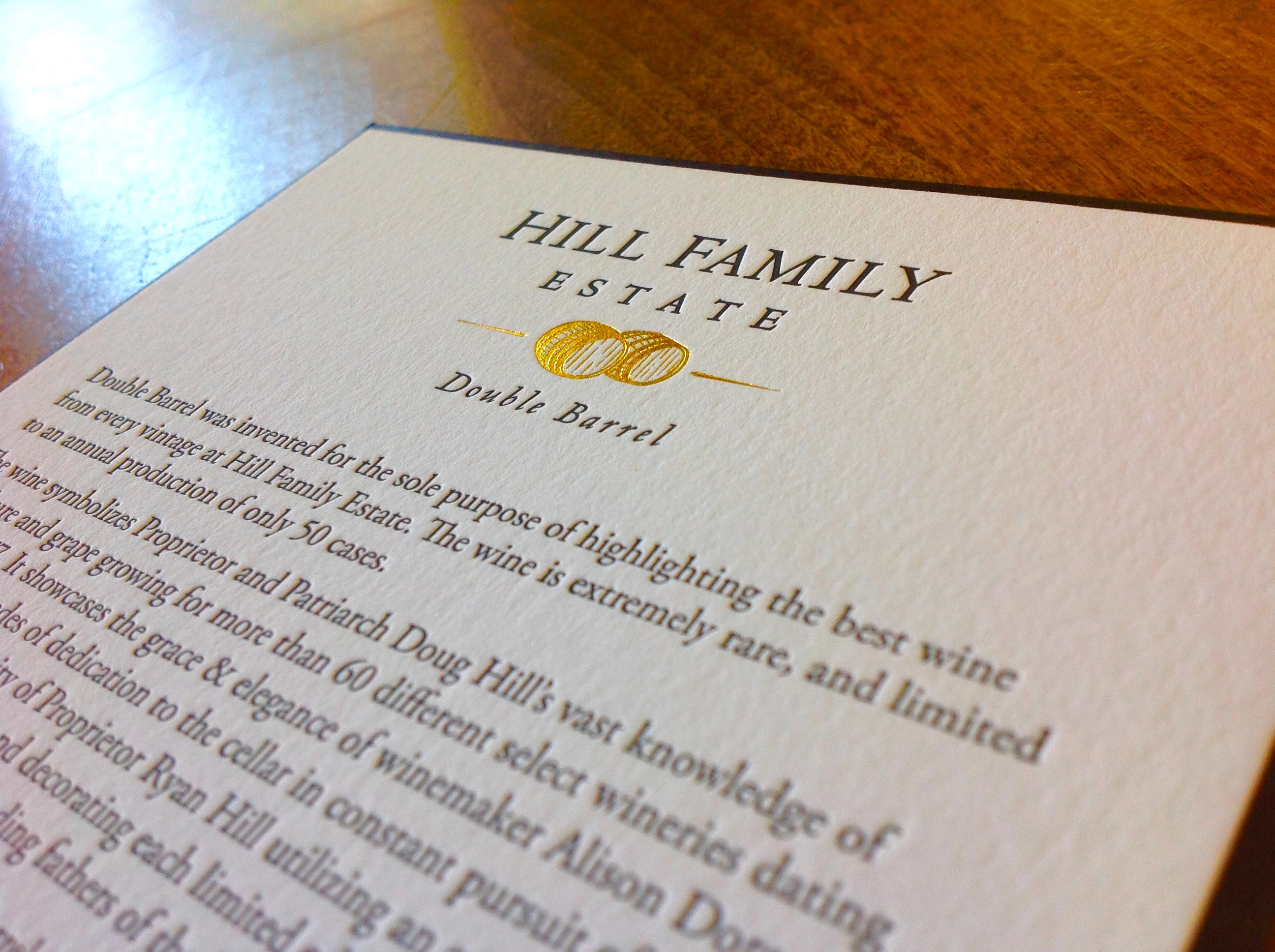 Hill_family_wine_introduction_custom_printed_foil_and_letterpress